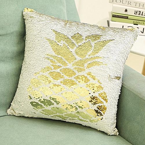 Fashion Fashion Double Color Glitter Sequins Throw Pillow Case Cafe Home Decor