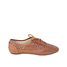 a9ce9bbd0be4a4 Ladies Flat Shoes - Brown
