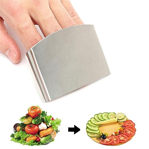 Stainless Steel Finger Kitchen Cutting Protector Guard Ring Cooking Utensil Tool