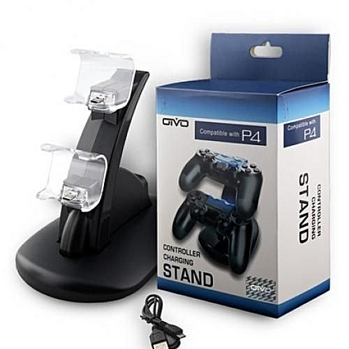 PS4 Controller Pad Charger [Dual Slot] High Speed Docking / Charging Station