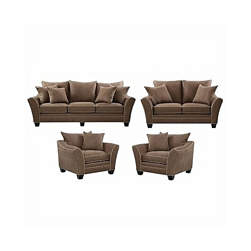 Jazz 7 Seater Livingroom Set - Light Brown