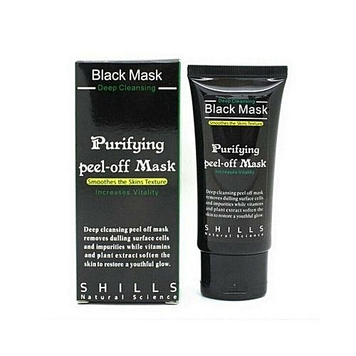 Shills Facial Cleansing Acne Purifying Peel Off Black Mask For Younger Smooth Face