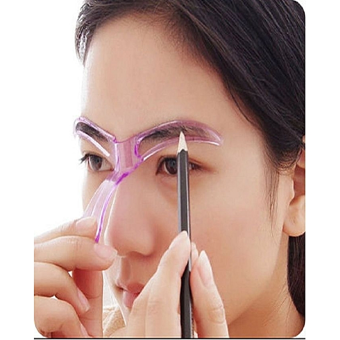 Buy Fashion Diy Shaping Eyebrow Template Stencil Pink Best Price