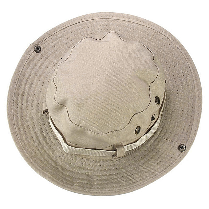 bac6c90fa6d Bucket Hat Boonie Hunting Fishing Outdoor Wide Cap Brim Military Beige