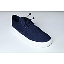 c6b6f480b10 Bell Lace Classic Sneaker With White Sole - Blue