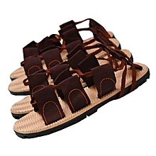 a62b5ce9e812 1 - Pair Men  039 s Sandals Light Weight Shock Brown