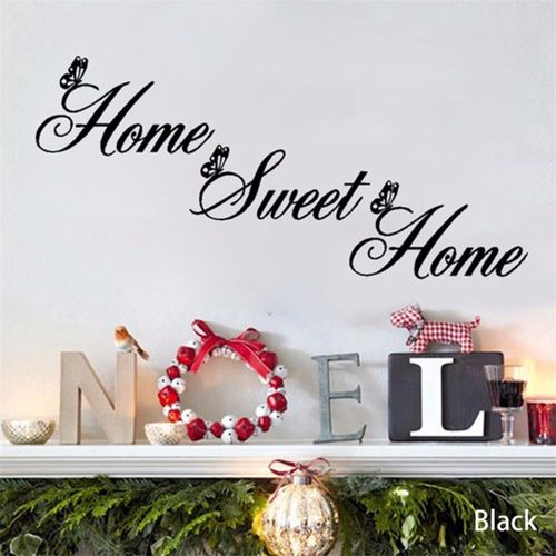 Home Sweet Home Quotes Decor Wall Stickers DIY Removable Art Vinyl  Butterfly Wall Sticker Home Décor Part 53