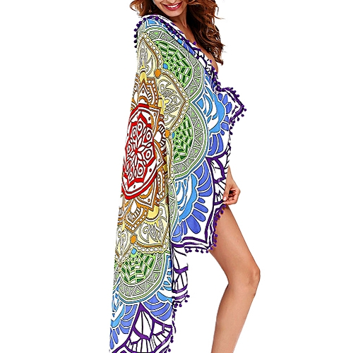 Honana WX-91 Bohemian Tapestry Totem Lotus Beach Towels Yoga Mat Camping Mattress Bikini Cover