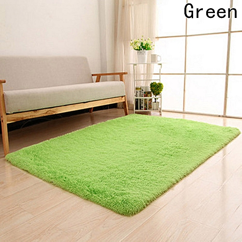 Tanson 40*60cm Long Plush Shaggy Soft Carpet Area Rug Slip Resistant Door Floor Mat For Bedroom Living Room