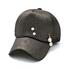 Herkiller Women Men Baseball Cap Solid Hat Hip-Hop Adjustable- Black