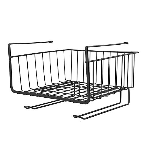 Under Shelf Basket Kitchen Pantry Cabinet Closet Wire Rack Storage Organizer