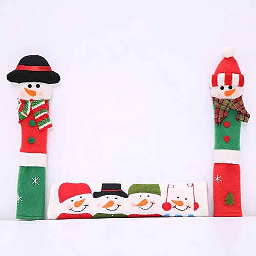 Refrigerator Door Handle Covers Christmas Decorations