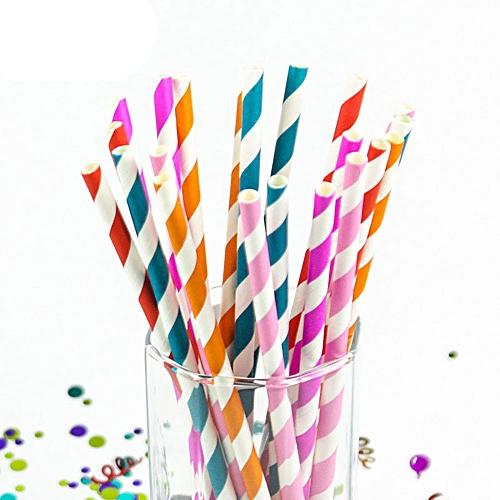 200PCS Drink Paper Straws Birthday Party Supplies Straws