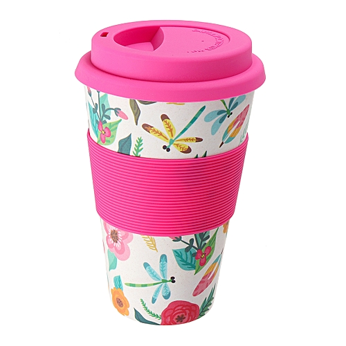 Reusable Bamboo Fiber Coffee Cup Mugs Coffe Travel Mug Drink Water Mug Healthy