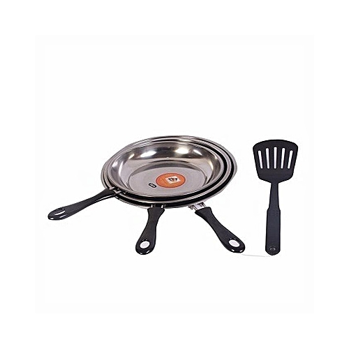 Frying Pan Set With Ladle -3Piece