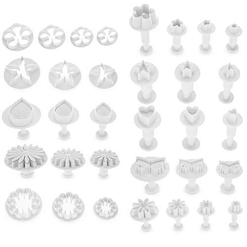 33pcs Fondant Cake Cutter Mold Icing Decorating Tools