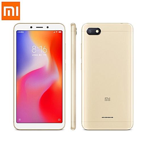 (Xiaomi) Redmi 6A 5.45-Inch (2GB, 16GB ROM) 13MP + 5MP Dual SIM 4G AI Face Unlock Smartphone - Gold
