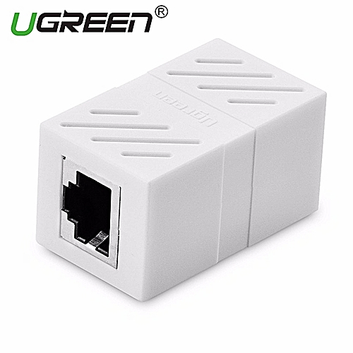 1Pack In-Line Coupler Cat7/Cat6/Cat5e Ethernet Cable Extender Adapter -White By HonTai