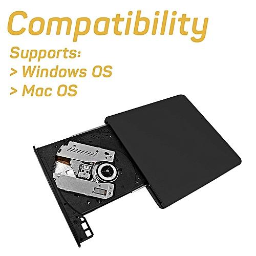 Fashion Ultrathin Metal External USB 3.0 DVD ROM Recorder 14.9*14*1.2cm