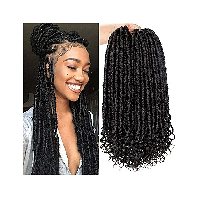 Generic Goddess Faux Locs Crochet Hair 6pack Straight Hair