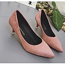Vogue Women Nude Shallow Mouth Vogue Elegant Ladies Office Work High Heels Shoes for sale  Nigeria