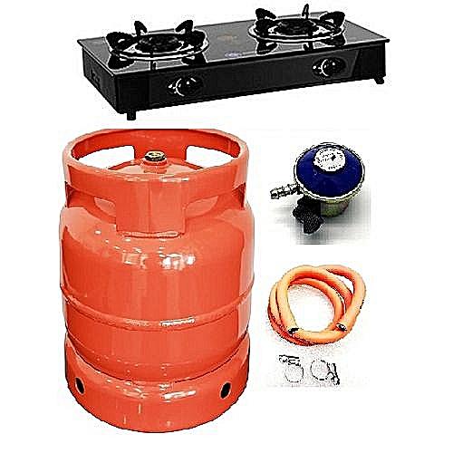 Glass Cooker+12.5kg Camping Gas Cylinder,RegulatorHose+Clip