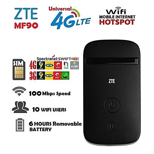 3G/4G LTE Mobile Internet WiFi Hotspot For Swift, Spectranet, Smile, Ntel, 9Mobile, MTN, Airtel, Glo
