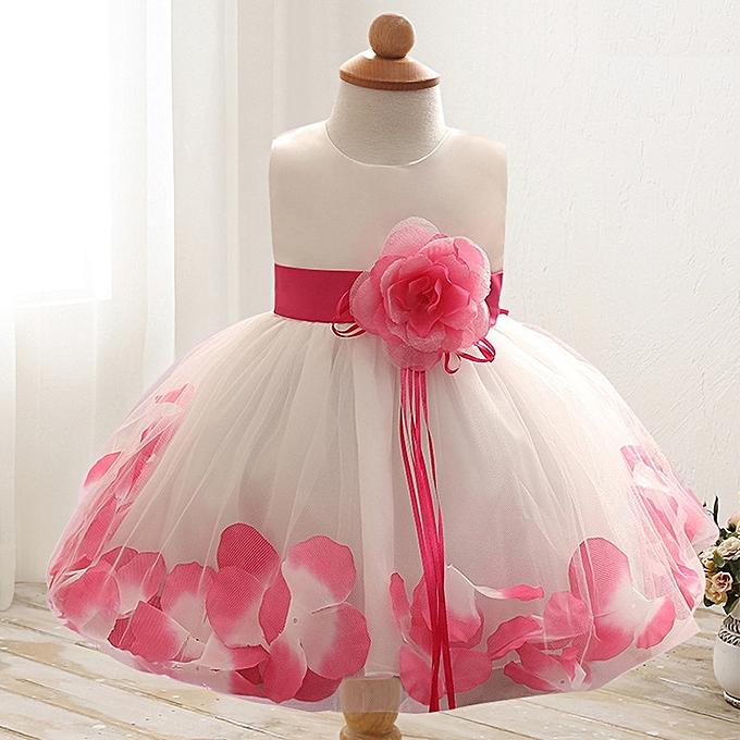 a6a38664590a Fashion Elegant Baby Girls Dress Fluffy Child Skirt Sleeveless ...