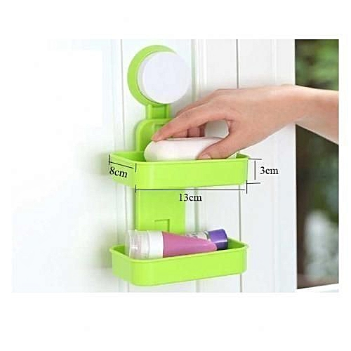 Soap Holder/Rack-2 Layers Wall Mounted- Multicolour