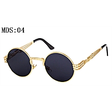 877f5732bf815 Gothic Steampunk Sunglasses Men Women Metal Wrapeyeglasses Round Shades  Brand Designer Sun Glasses Mirror High Quality