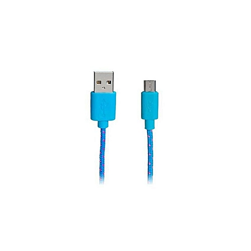 Generic 1 M Micro USB Nylon Woven Charging Data Cable For Samsung/ HTC 137946 (As Main Picture)