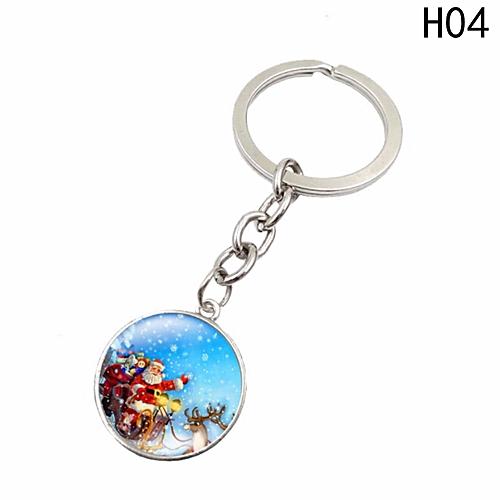 Esmalte Natal Keychain Moda Artesanal Presente De Natal H04