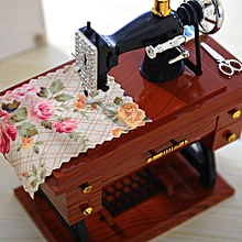Vintage Music Box Mini Sewing Machine Style Mechanical Birthday Gift Table Decor Drop Shipping for sale  Nigeria