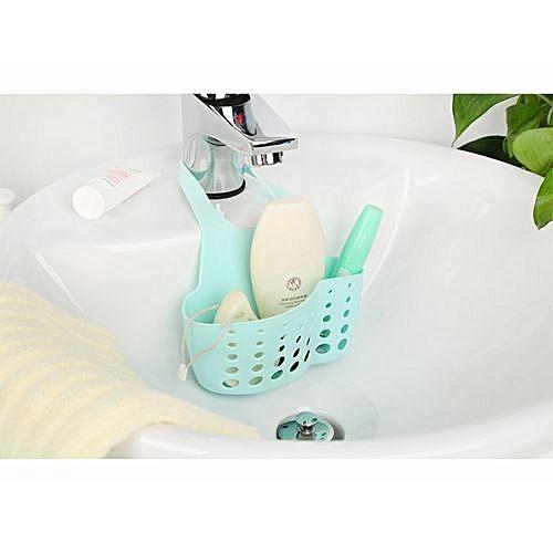 Suction Cup Sink Shelf, Soap Sponge Drain Rack
