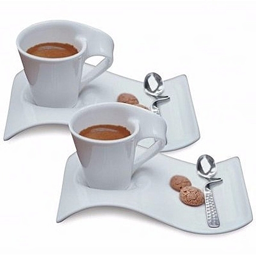 Coffee Cup and Saucer Set - 4 Pcs
