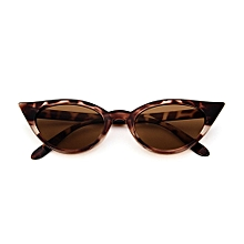 510386ebe39 Vintage Cat Eye Women Sunglasses PC Frame Resin Lens UV400 Eyewear Glasses  Leopard