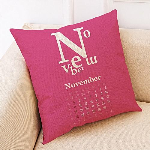 Fashion Home Decor Cushion Cover Calendar Throw Pillowcase Pillow Covers NEW