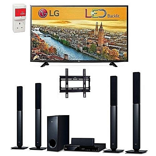 32-Inch LED TV - LK500, Bluetooth DVD Home Theatre With HDMI - LHD457B, And Free Wall Mount & Surge