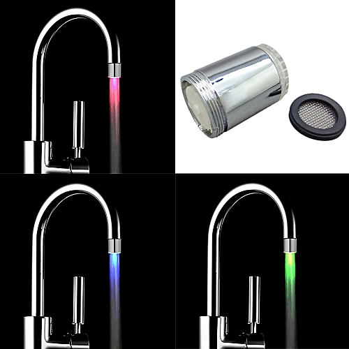 3 Color Kitchen Water Tap Faucet Glow Shower LED Light Glow