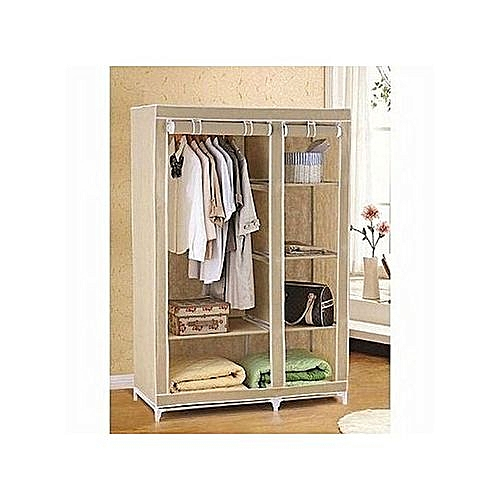 Movable Wardrobe With Closets And Wheels