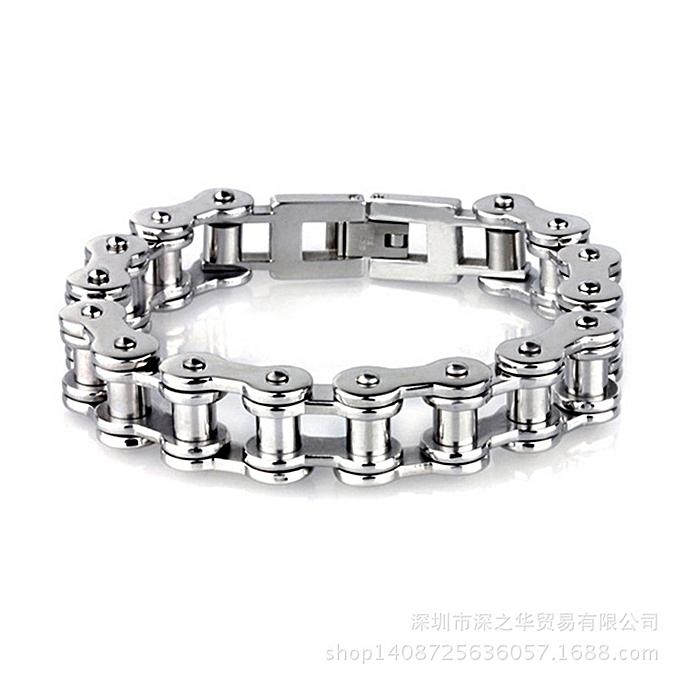 Generic gb es118 Fashion Men's Bracelet Personalized Locomotive Chain-Silver