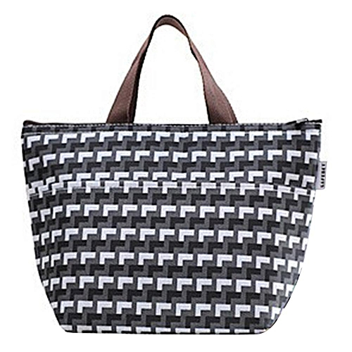Fashion Women Men Oxford Fabric Thermal Insulated Portable Lunch Box Tote Picnic Storage Bag #3