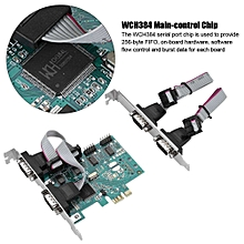 PCI-E To RS232 4-Port Serial Port Converter PCI Express Controller Adapter Expansion Card