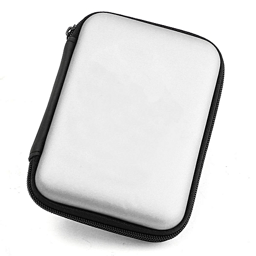 "Portable Carrying Zipper Case Pouch Soft Cover Bag For 2.5"" Hard Disk Drive HDD Silver"