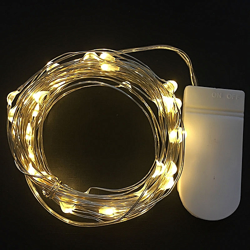 Waterproof 2M 5M Christmas Garland Fairy LED Desk Lights Powered By Battery Copper Wire Flexible Lamp Fit For Art Process Light(Warm White)