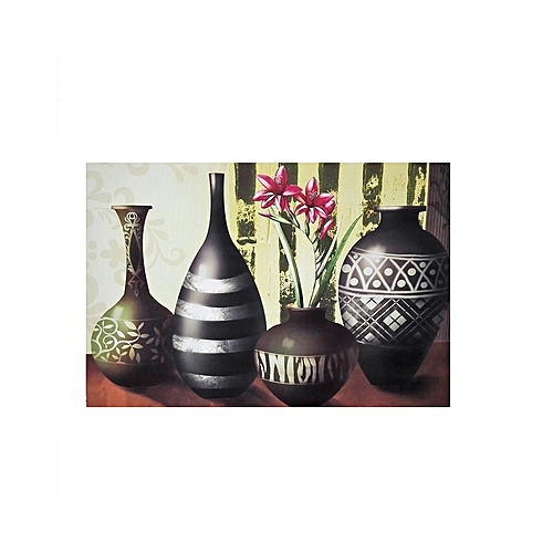 Milano Vase Design Frameless Painting B - 60 X 40cm