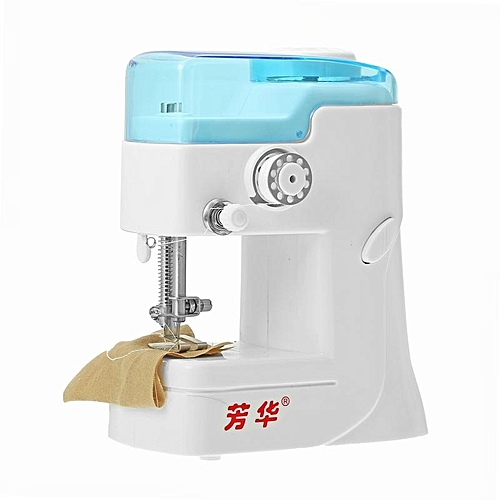 Fanghua Mini Sewing Machine 988 Portable Knitting Machine Multifunction Electric Replaceable Presser Foot