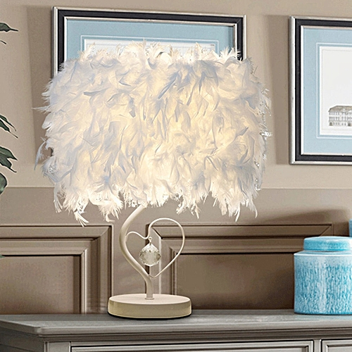 Loving Feather Decorative Eye Protector Lamp