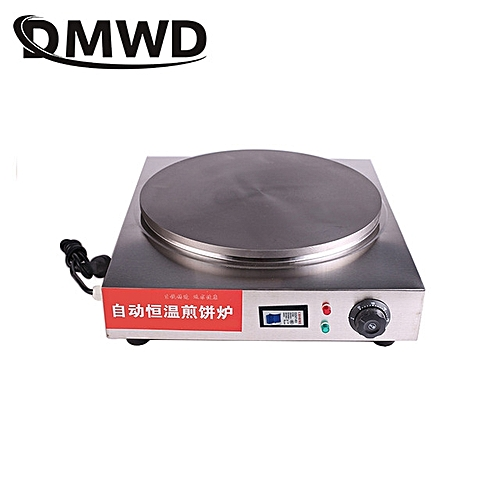 Commercial Stainless Steel Electric Crepe Pancake Frying Pan Professional Scones Bread Maker Egg Roll Machine EU US Plug Adapter