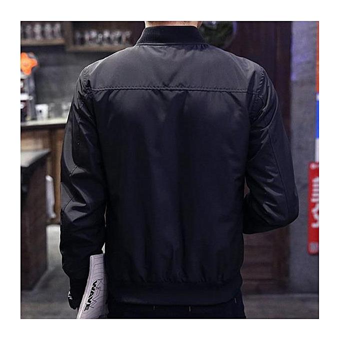ee3921a87e ... 2017 Casual Solid Fashion Slim Bomber Jacket Men Overcoat New Arrival  Baseball Jackets Men's Jacket